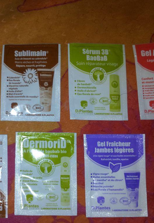 8 échantillons gratuits de gel 100% naturels