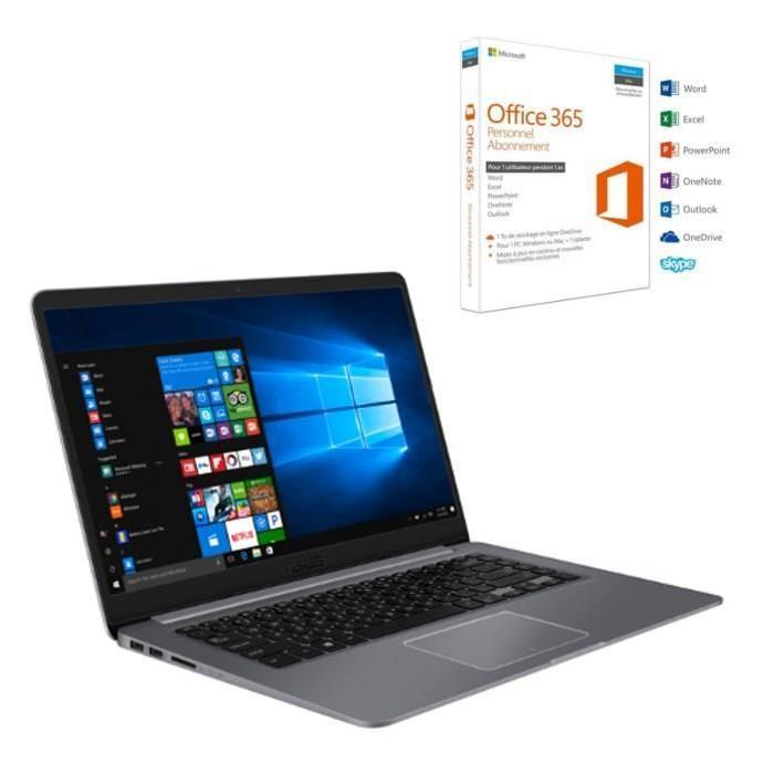 "PC Portable 15.6""  HD Asus R520UA-BR580T - 4Go de Ram, i5-8250U, 1To + Office 365 Personnel"