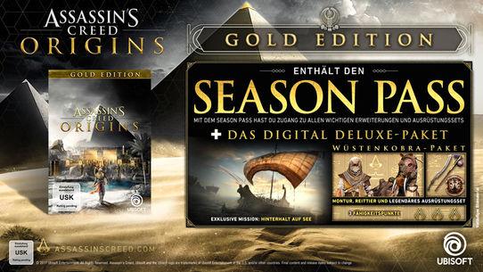 Assassin's Creed Origins Gold Edition ( jeux + deluxe + season pass ) sur PC