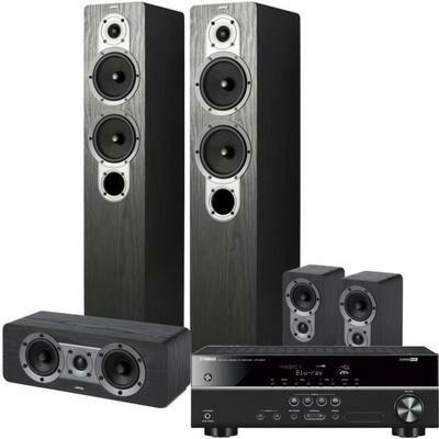 Pack Yamaha : Amplificateur HTR-2071 5.1 4K UHD + système d'enceintes Home Cinema 5.0 Jamo S 426HCS3 S