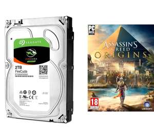 "Disque dur interne Hybride SSHD 3.5"" Seagate FireCuda - 2 To + Assassin's Creed Origins offert"