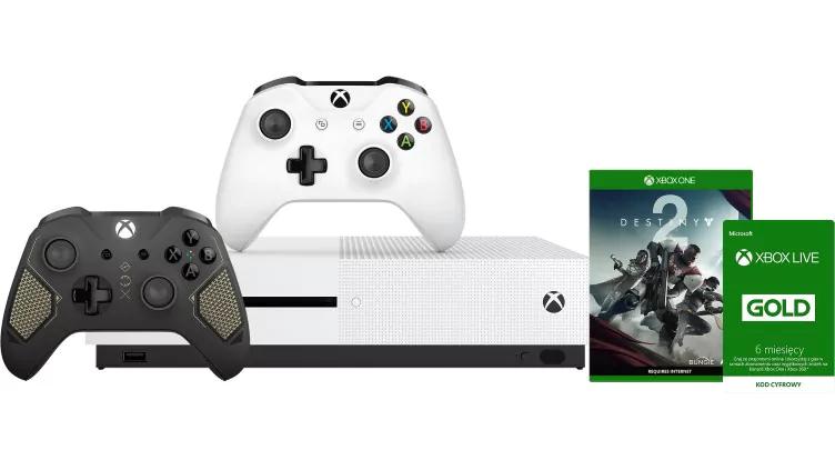 Pack Xbox One S (500 Go) + 2ème manette Xbox One Recon Tech + Destiny 2 + abonnement de 6 mois au Xbox Live