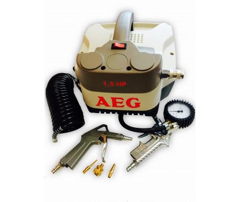 Compresseur AEG sans cuve 1,5 CV Oiless equipé