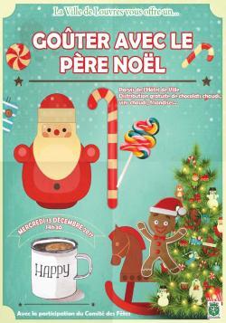 Goûter Gratuit avec le Père Noël le 13 Décembre 2017 à 14h30 - Parvis de l'Hôtel de Ville de Louvres (95)