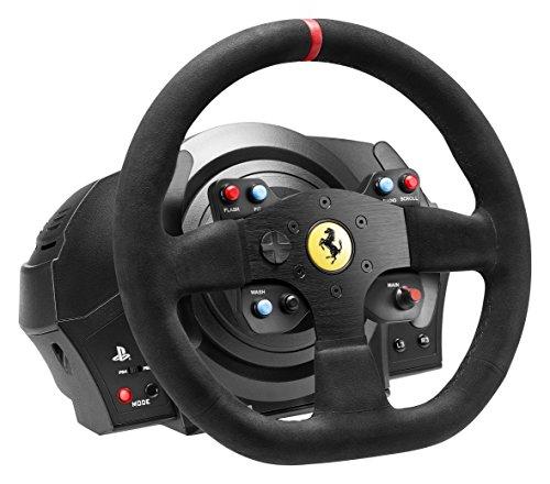 Volant ThrustMaster T300 Ferrari Alcántara Edition avec Pédalier trois pédales T3PA compatible PS3/ PS4/ PC