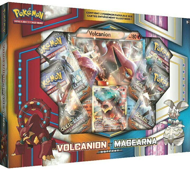 Coffret Asmodee AMAPOK03 Pokémon Soleil et Lune Exclusif - Volcanio / Magearna