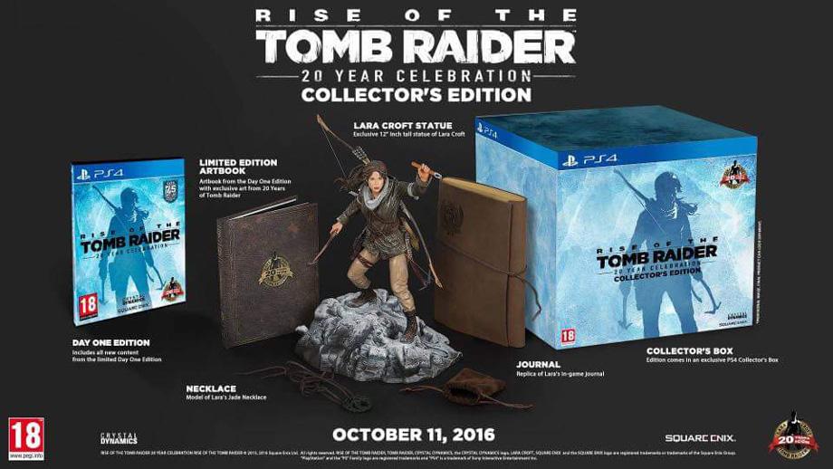 Rise of the Tomb Raider - 20ème anniversaire (Edition Collector) sur PS4