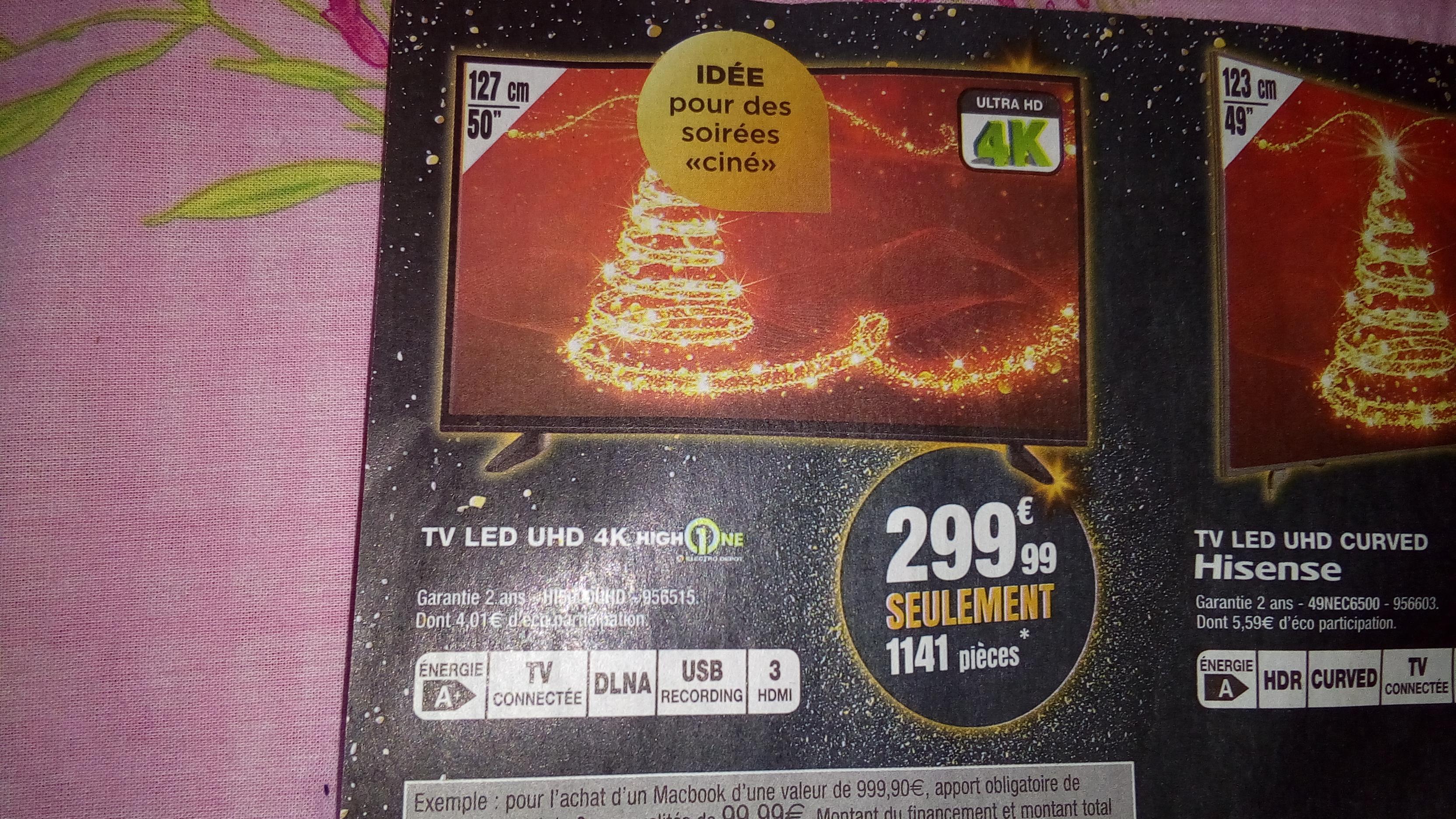 "TV 50"" HighOne - 4K UHD, LED, smart TV"