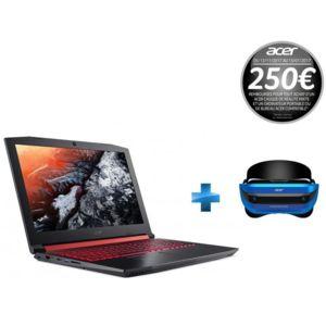 """Pack PC portable 15.6"""" full HD Acer Nitro 5 AN515-51-50CD (i5-7300HQ,  GTX-1050, 8 Go de RAM, 1 To) + casque de réalité virtuelle VR AH101 (via ODR de 250€)"""