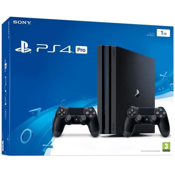 Console Sony PS4 Pro Noir 1To + Qui est tu ? + 2ème manette Dualshock4 + Gran Turismo (Auchan Mantes-la-Jolie - 78)