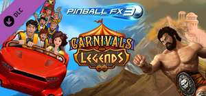DLC Table Carnivals and Legends gratuit pour Pinball FX3 (Dématérialisé, Steam, PC, PS4, Xbox One et Switch )