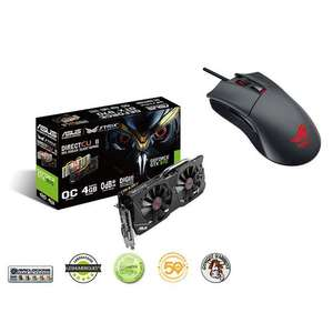 Carte graphique GeForce GTX 970 DC2 OC Strix Edition 4 Go + Souris Asus ROG Gladius + The Witcher 3