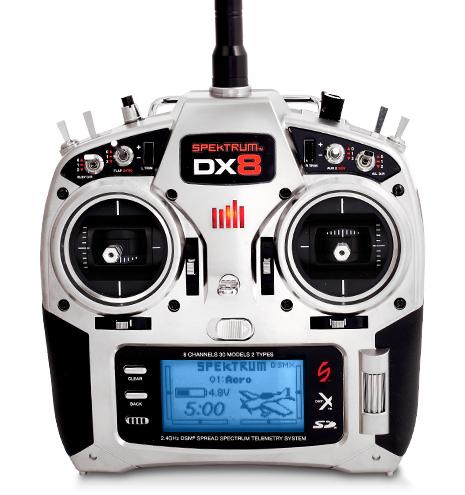 Radio-commande 8 voies Spektrum DX8 + Récepteur AR400