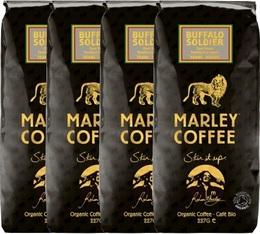 Lot de 4 Paquets de Cafés Marley Coffee en grains bio 100% Arabica Buffalo Soldier - 4 x 227g