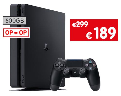 Sélection de Packs Console PS4 Slim (Noir) en Promotion - Ex: 500 Go (Frontaliers Belgique)