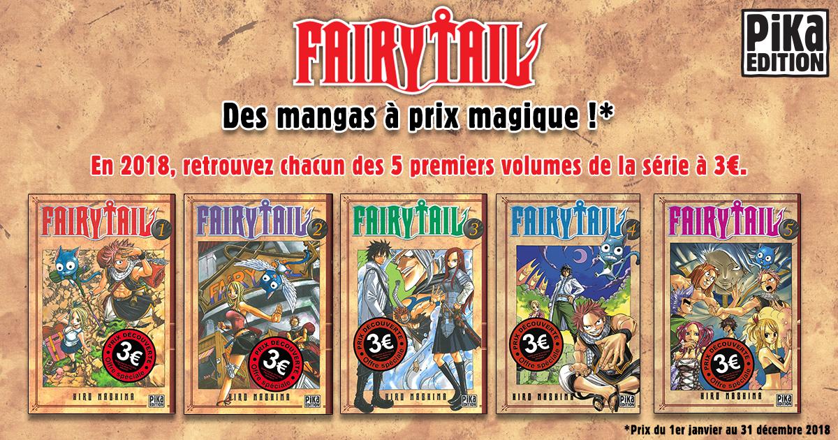 Manga Fairy Tail tome 1 à 5 (l'unité) - Pika Edition