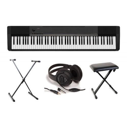 Pack piano Casio CDP-130BK + Casque + Banquette