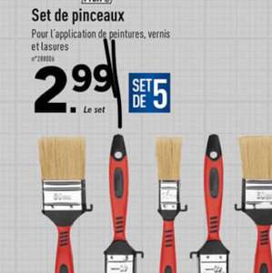 Set de 5 Pinceaux Powerfix