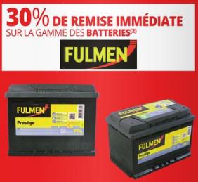 30% de réduction  sur les batteries Fulmen