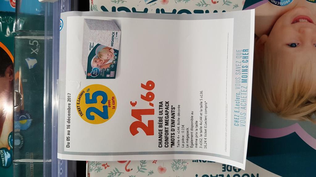 Pack de couches bébé ultra confort mégapack Mots d'Enfants (via 5.42€ sur la carte) - 59