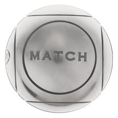 Sélection de boules de pétanque Obut en promotion - Ex: Jeu de 3 boules Match dures acier + but