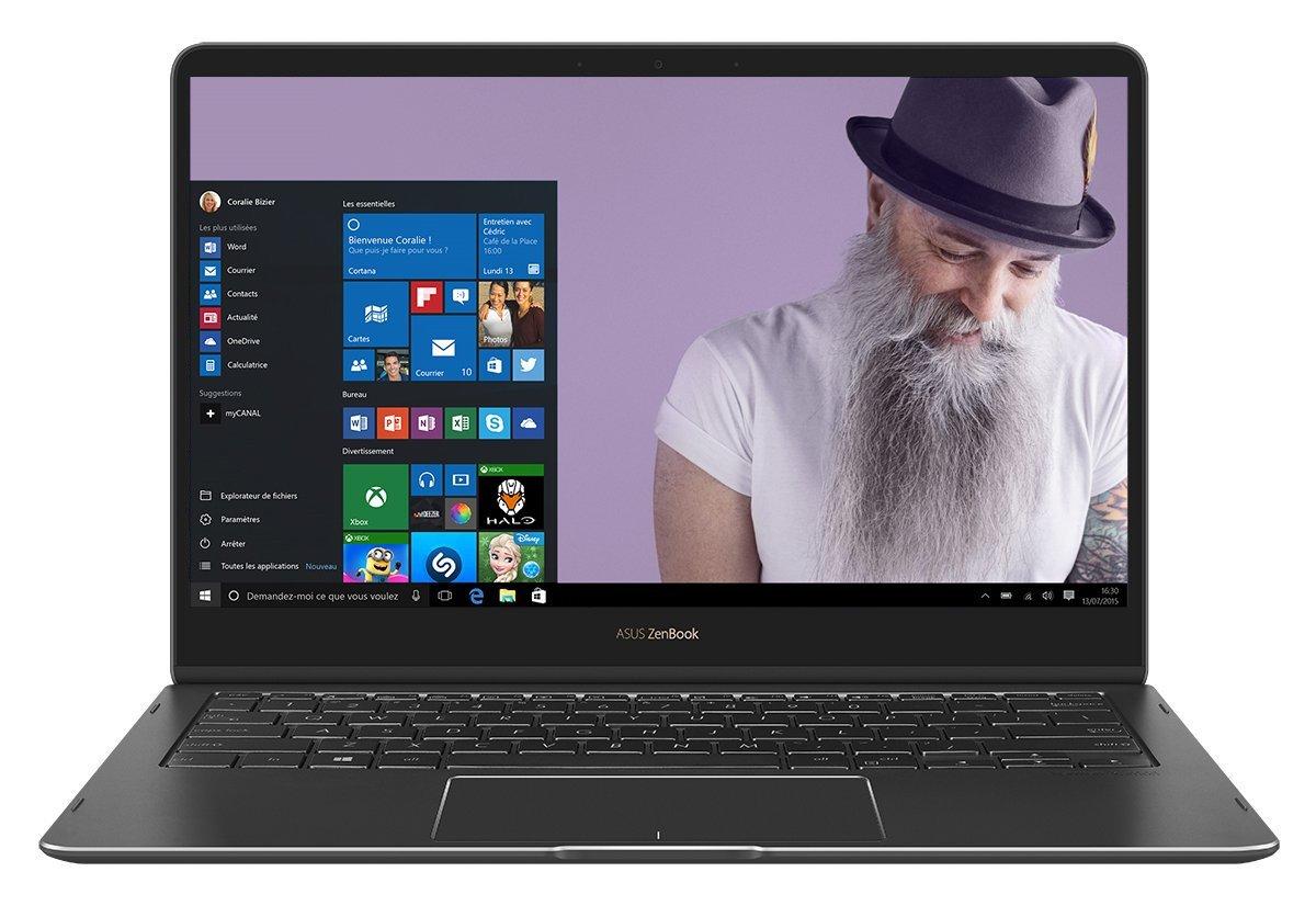 "PC Portable 13.3"" Tactile 360° Asus Zenbook Flip S UX370 - i5-7200U, 8 Go de RAM, SSD 256 Go + Logiciel PC Mover"