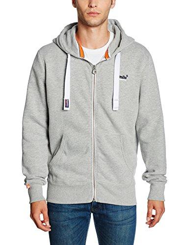 Sweat-Shirt Superdry Orange Label Ziphood Gris pour  Hommes - Tailles S (Vendeur Tiers)