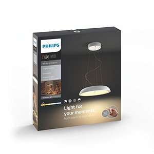 Luminaire télécommandé Philips Amaze Suspension Hue Blanc + télécommande variateur de lumière