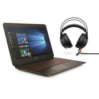 "PC Portable 15.6"" HP Omen 15-AX244NF - Full HD IPS, i5-7300HQ, HDD 1 To + SSD 128 Go, RAM 8 Go, GTX 1050 2 Go, Windows 10 + Casque Omen 800 (via ODR de 100€)"