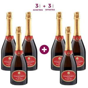 Carton de 6 bouteilles de champagne brut Cartier Première Cuvée - 75 cl