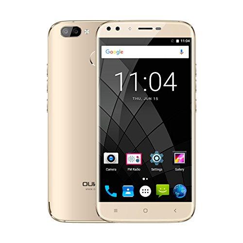 "Smartphone 5.5"" Oukitel U22 - MT6580, 2 Go de RAM, 16 Go, or (vendeur tiers)"