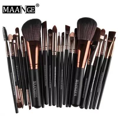 Lot de 22 pinceaux à maquillage Maange - noir / rose