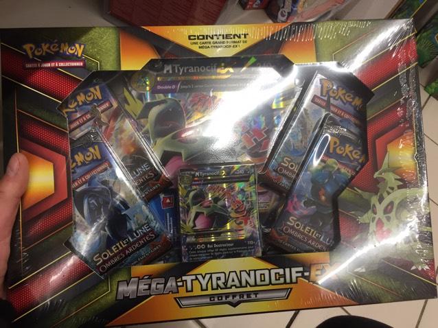 Coffret Pokemon Mega Tyranocif Ex (5 boosters)- Auchan Douai / Sin-le-Noble (59)