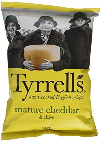 [Précommande] Lot de 24 Paquets de Chips Lisses Tyrrell's  Cheddar Affine / Ciboulette - 24 x 40g