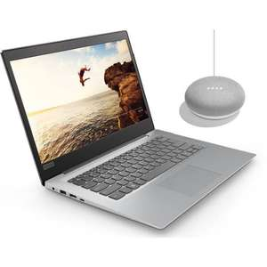 "PC Portable 14"" Ultrabook Lenovo Ideapad 120S-14IAP - HD, N3350, RAM 4Go, 32Go, Windows 10 S + Google Home Mini"