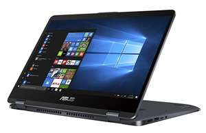 "PC Portable Hybride Tactile 14"" Asus Vivobook Flip  TP410UA-EC380T - i5, RAM 6Go, SSD 128Go + 1To, Windows 10 + Licence PC Mover"