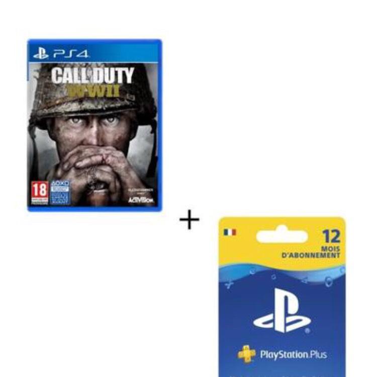Call of Duty World War II + Abonnement PlayStation Plus 12 mois