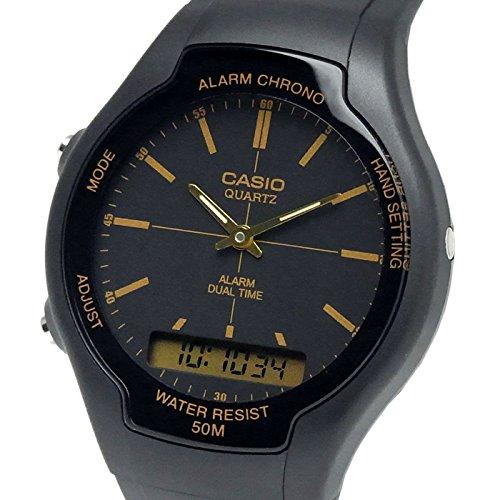 Casio Collection Montre Homme Analogique/Digitale Quartz avec Bracelet en Résine – AW-90H