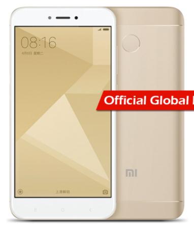"Smartphone 5"" Xiaomi Redmi 4A - SnapDragon 425, 2 Go de RAM, 16 Go, or (via l'application) + garantie de 1 an par allianz"