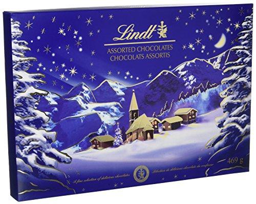 Lot de 2 boîte de chocolat Lindt Paysage de Noël 469 g -