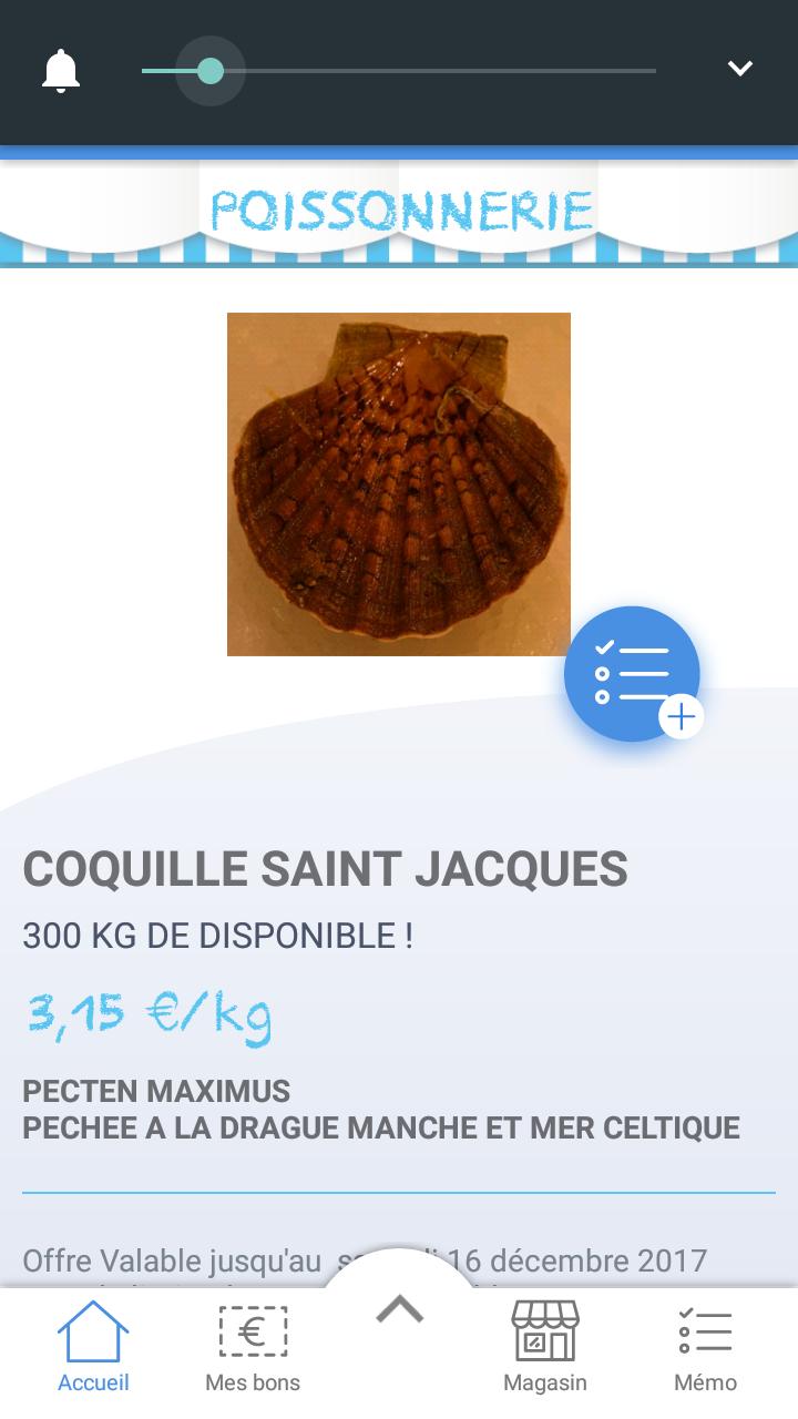 1 kg de Coquilles saint Jacques -Leclerc Saint Grégoire (35)