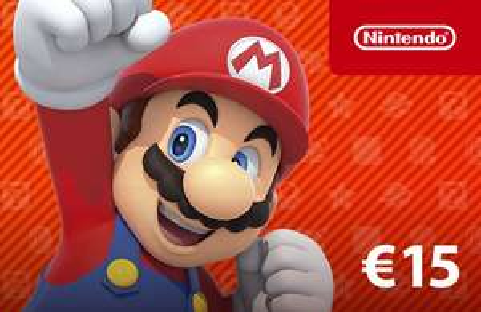 Carte cadeau Nintendo eShop d'une valeur de 15€