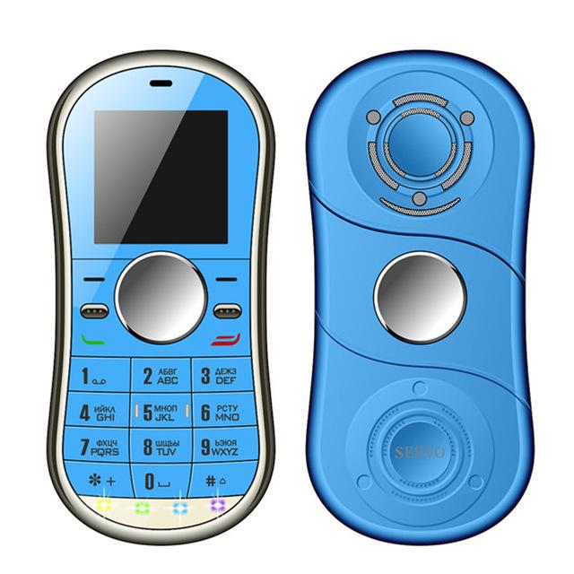 Mini téléphone portable / Hand Spinner Servo S08 - Bleu