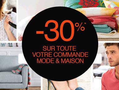 30% de réduction sur votre commande mode et maison