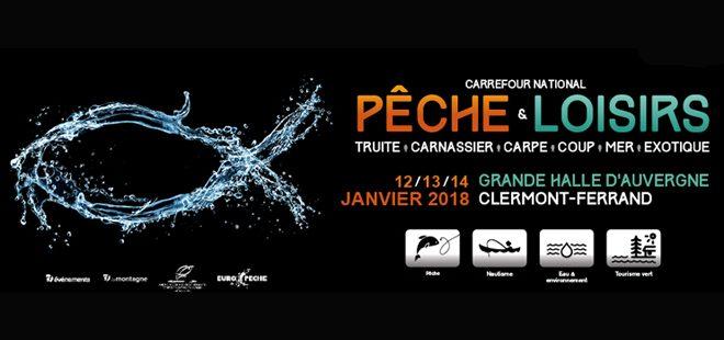 Invitation gratuite salon de pêche Clermont-Ferrand du 12 au 14 janvier 2018