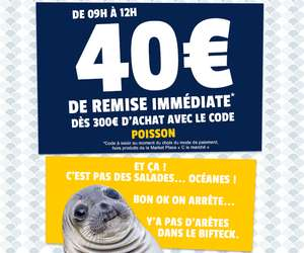 40€ de réduction dès 300€ d'achat