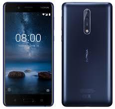 "Smartphone 5.3"" Nokia 8 Bleu - QHD, Snapdragon 835, RAM 4Go, 64Go, Android 7.1.1"