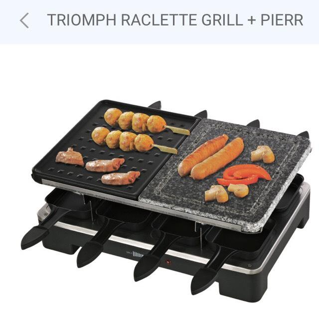 Appareil à raclette Grill Triomph + Pierrade 8 Personnes – 1400W