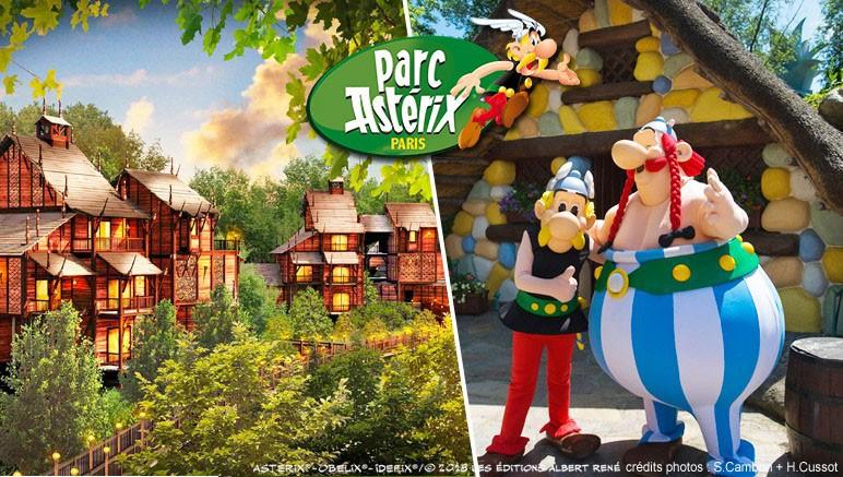 30% de réduction sur plusieurs séjour au parc Astérix - Ex: 1 nuit  l'Hôtel La Cité Suspendue (+ Petit déjeuner) + 1 jour au parc pour 4 personnes