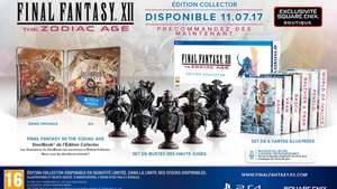 Final Fantasy XII The Zodiac - Édition collector sur PS4